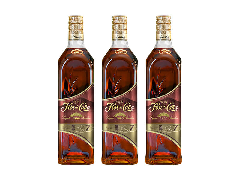 3 botellas de ron 7 años
